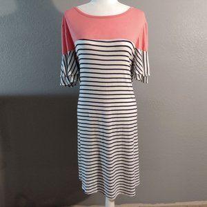 Moa Moa Woman Plus Size Rayon-Spandex Midi Dress, Size 1X